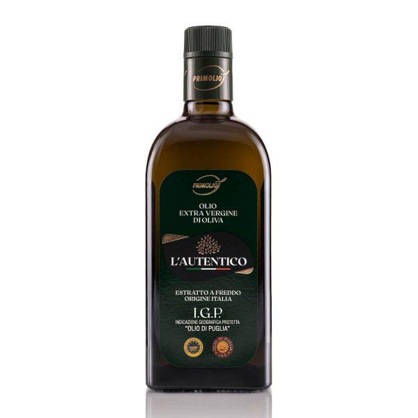 autentico primiolio olio fruttato bottiglia da 0.75